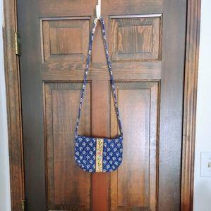 Vintage Vera Bradley Maison Blue Small Crossbody
